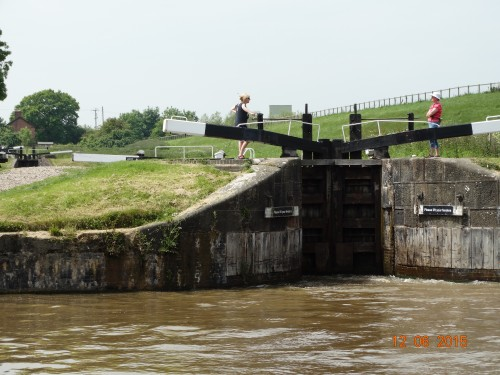 The start of the locks on the Llangollen branch