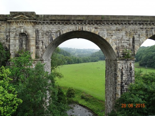 View through the viaduct across the valley