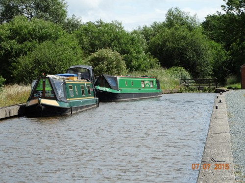 Initial mooring spot. The boat behind moored permanently as only has a licence for the Montgomery.
