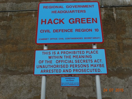 secret nuclear bunker which would have housed the government in the event of a nuclear attack. Decommissioned in 1993.