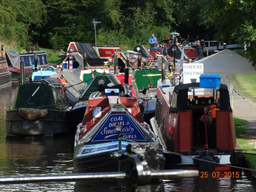 Old cargo boats attending the festival