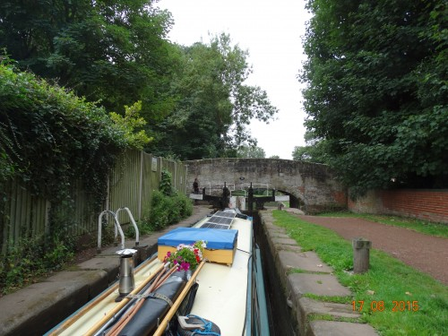 through Haywood lock first