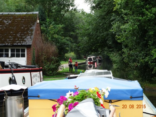 Making the turn onto the Coventry canal