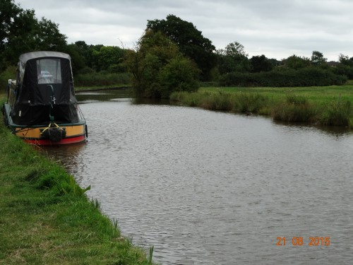 Our first mooring on the Coventry canal near Whittington.