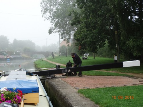 Hillmorton locks on a misty morning