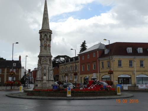 Banbury cross. Not the original as this was destroyed in the 16th century by puritans who were suspicious of it. This one was built in the Victorian era