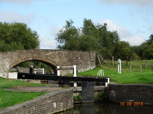"""This is followed by Aynho weir lock which is a diamond shape. It only rises and falls 12"""" but acts as extra capacity for Somerton Deep lock which comes next"""