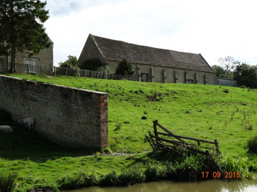 Old barn completely made of local stone