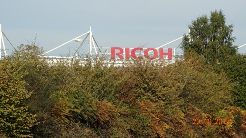 We passed the Ricoh arena
