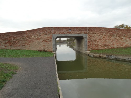 And finally the next bridge that was being built when we were last here as we couldn't get past. There is a 50' winding hole just beyond, but then the canal is filled in from here.