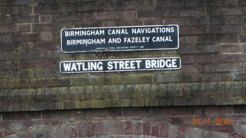 Under the bridge and onto the Birmingham and Fazeley section