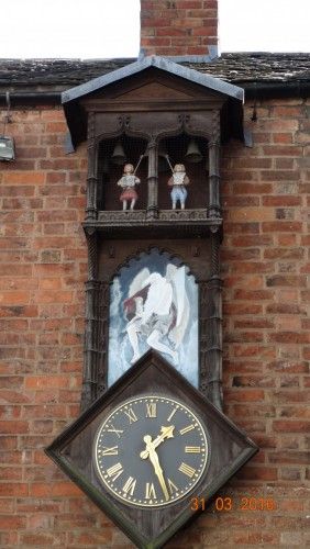 Clock inside the Guildhall courtyard