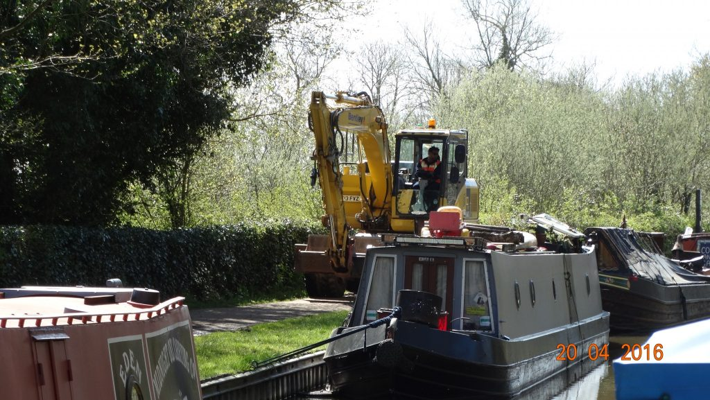Coffee time for the digger