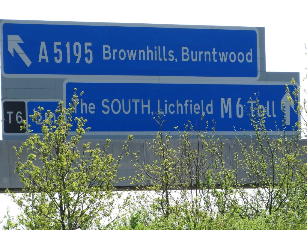 Never too far from the M6 toll, as it runs alongside the park