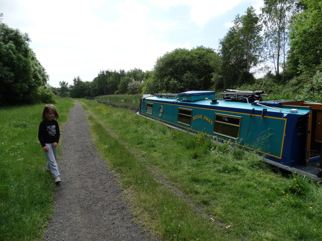 Our mooring for the night. Lots of space for the kids to run around