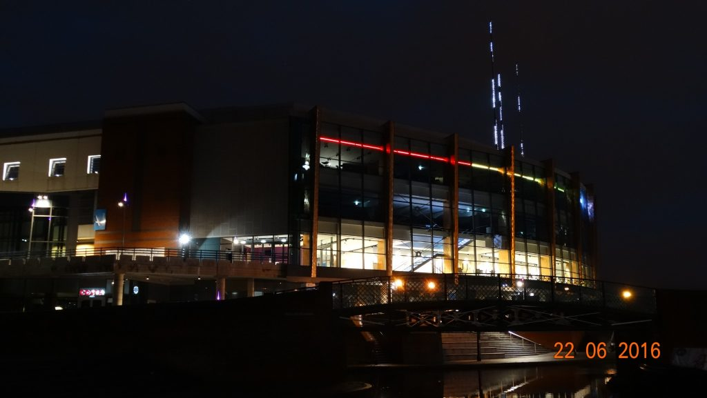 Barclacard arena at night