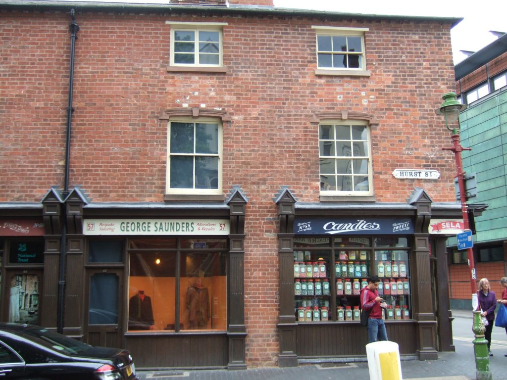 Tailors premises on the left