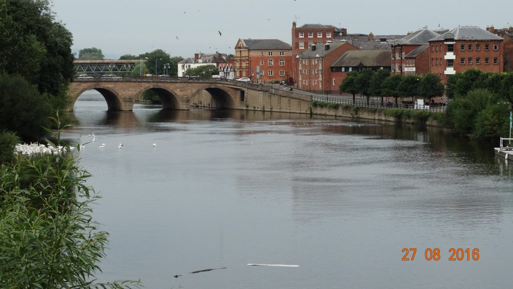 River Severn from the cathedral gardens