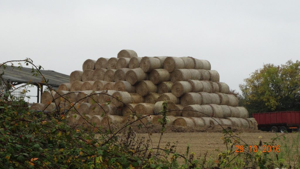 A rather large amount of round bales
